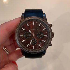 Michael Kors Brown Silicone Chronograph Watch